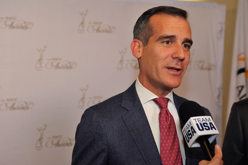 Los Angeles mayor Eric Garcetti backed the agreement