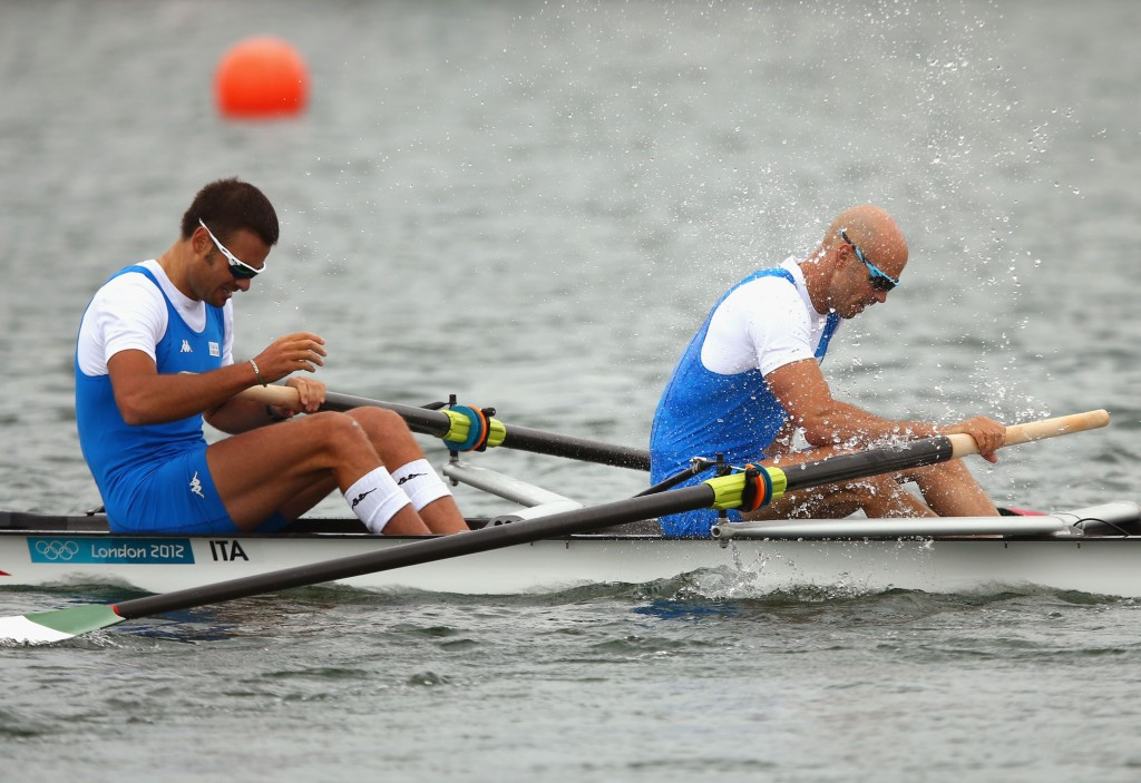 Niccolò Mornati (left) finished in fourth place at the London 2012 Olympics ©Getty Images