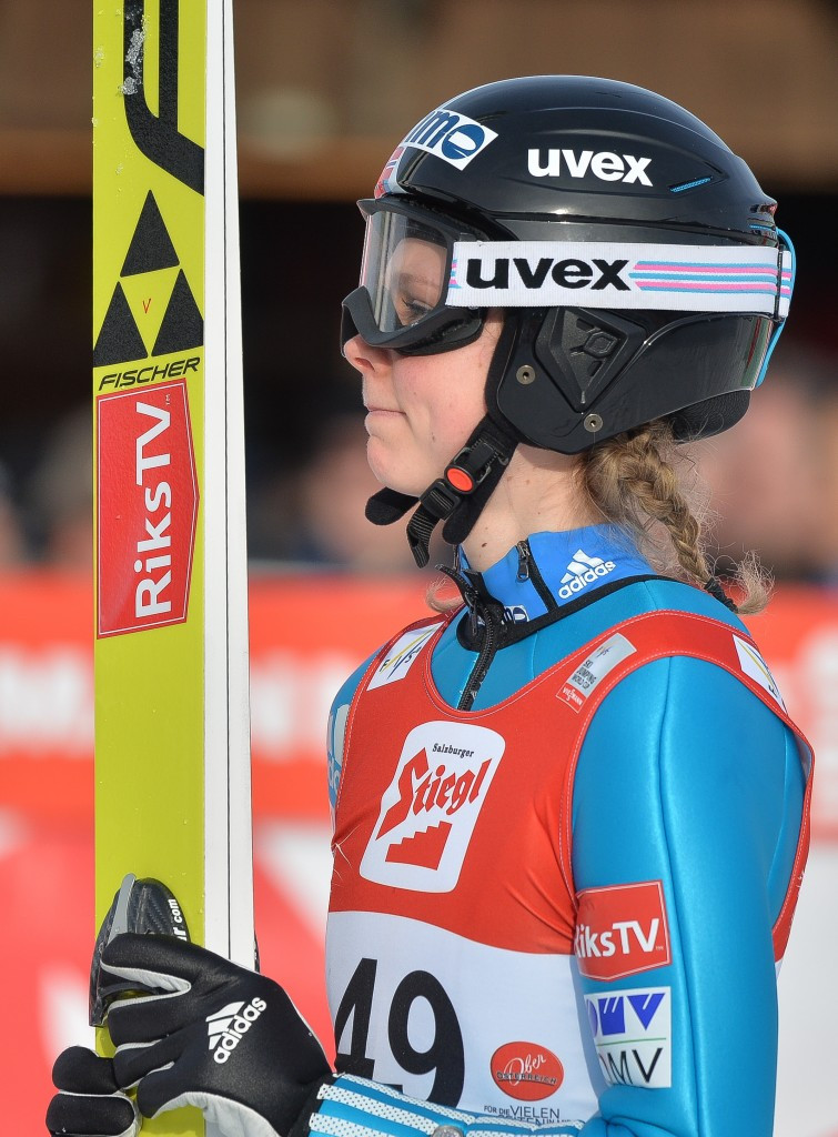 Maren Lundby is the sole female jumper in Norway's team