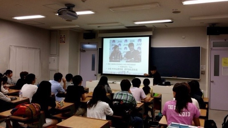 Sport climbing courses are also being rolled out across Japanese universities ©IFSC