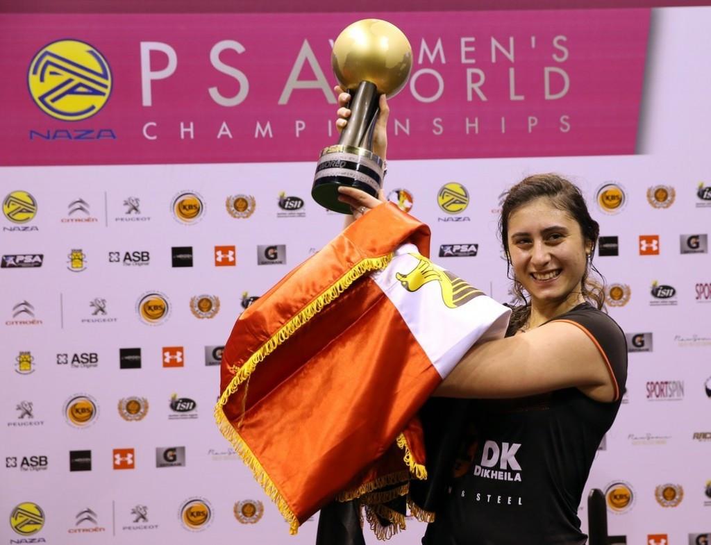 El Sherbini battles back to win PSA Women's World Championship title