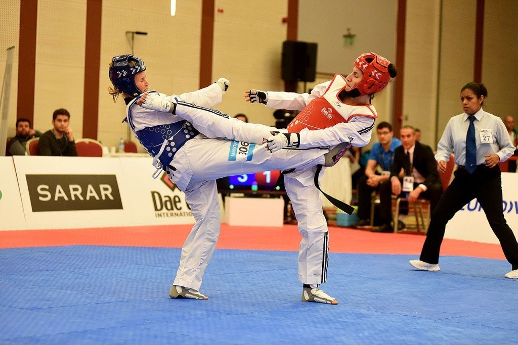 Raheleh Asemani, right, could compete for Belgium in Rio ©WTF