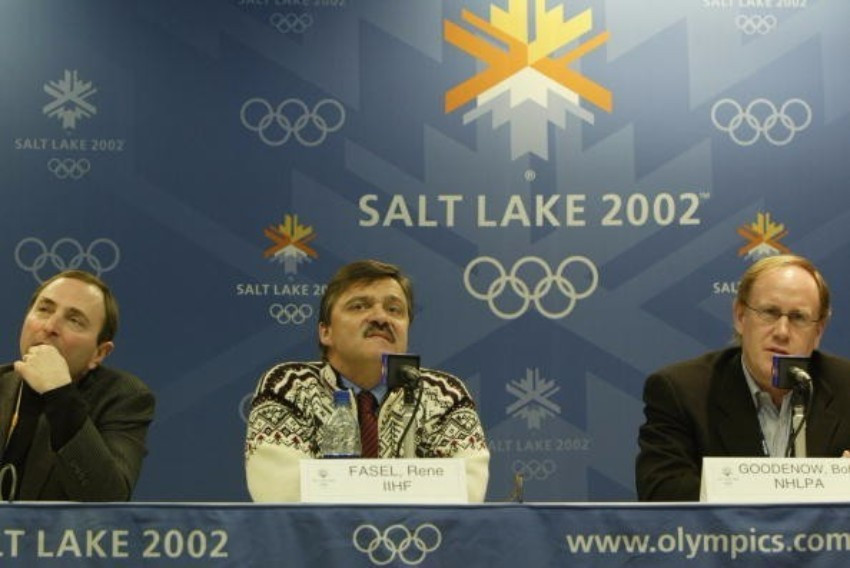 René Fasel pictured during the Salt Lake City 2002 Winter Olympic Games ©Getty Images