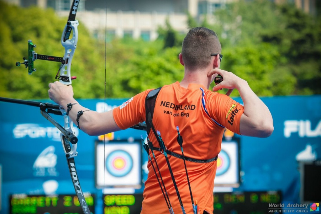 Dutch ace wins men's recurve title at Archery World Cup in Shanghai