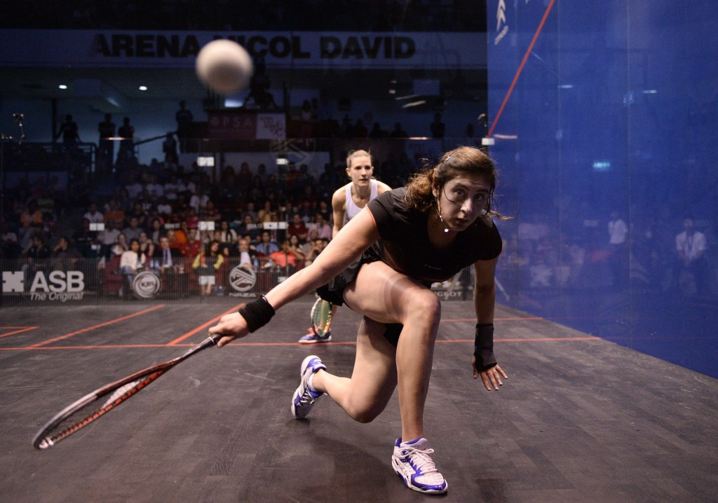 Nour El Sherbini moved to the top of the women's world rankings ©Getty Images