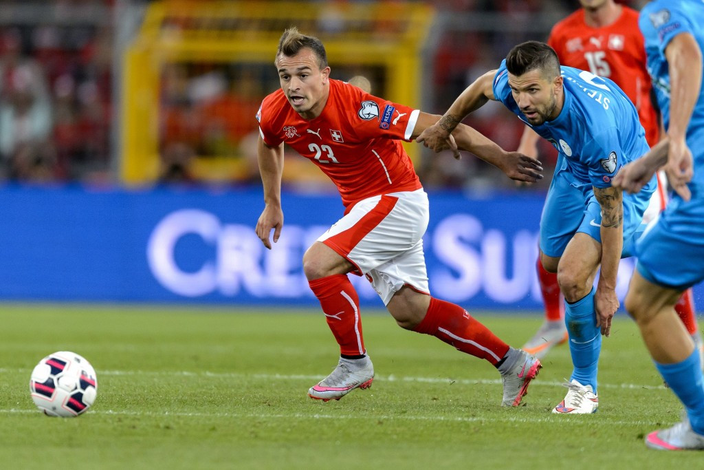 Several players born in Kosovo play for different countries, including Switzerland's Xherdan Shaqiri, who would not be allowed to play for their native country as things currently stand ©Getty Images