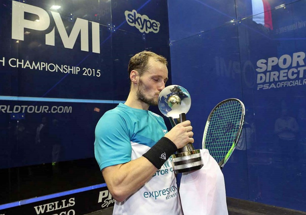 France's Grégory Gaultier currently holds the men's world title ©PSA