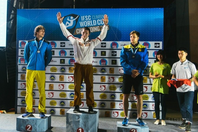 Russia won both speed events in China ©IFSC