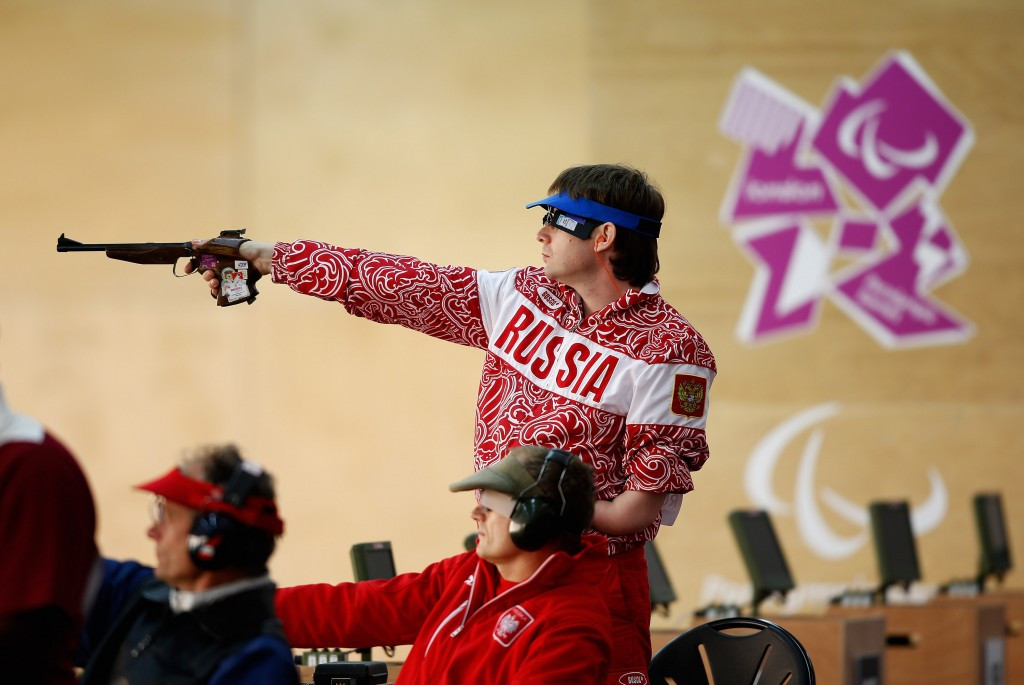 Russia's Sergey Malyshev topped the P1 10m air pistol men SH1 podium at the IPC Shooting World Cup in Polish city Szczecin today ©Getty Images