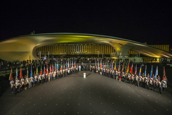 "Pan American National Olympic Committee Presidents handed Rio 2016 Torches in celebration of ""Unity of the Americas"""