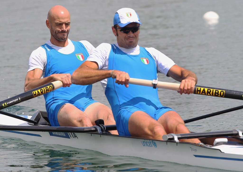 Niccolò Mornati, right, has won five World Championship medals