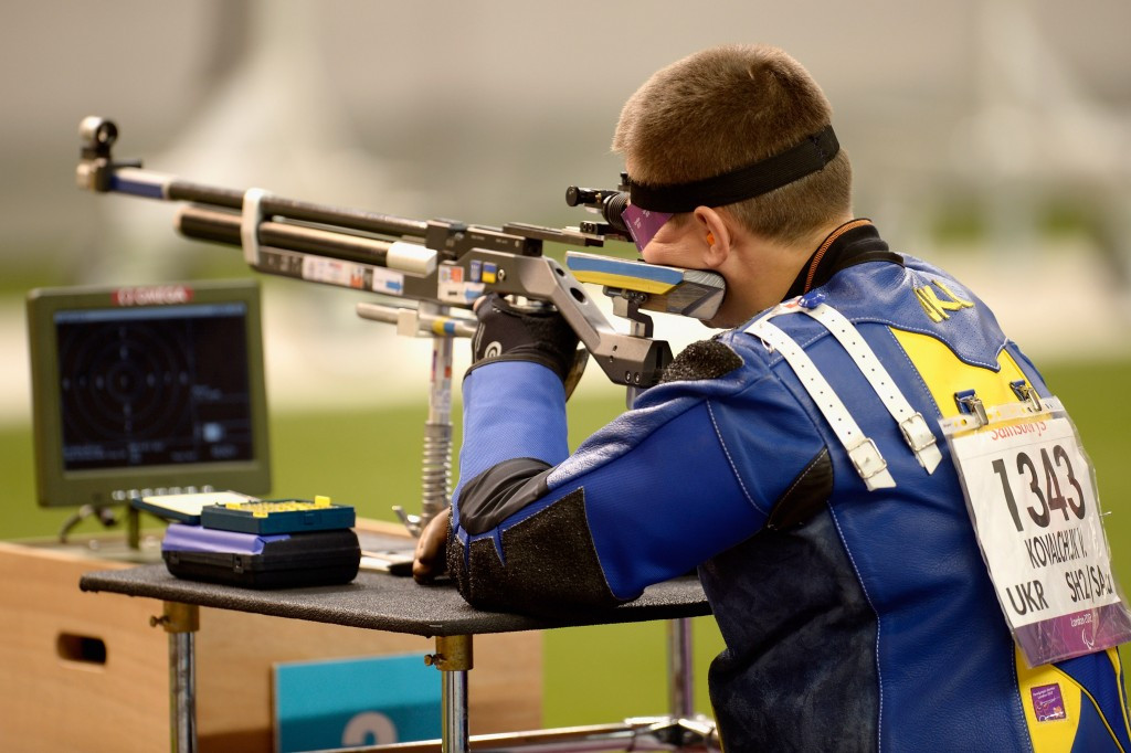 Paralympic champion Vasyl Kovalchuk clinched gold in the R5 10m air rifle prone mixed SH2 event on the final day of action at the IPC Shooting World Cup in Szczecin in Poland ©Getty Images