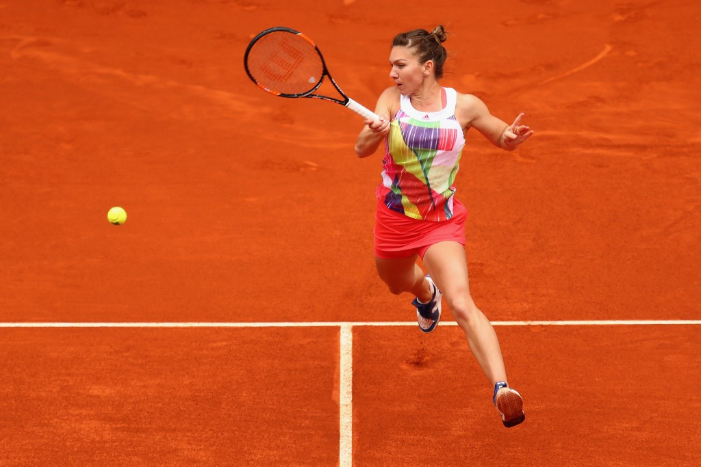 Romania's Simona Halep booked her place in the women's semi-finals