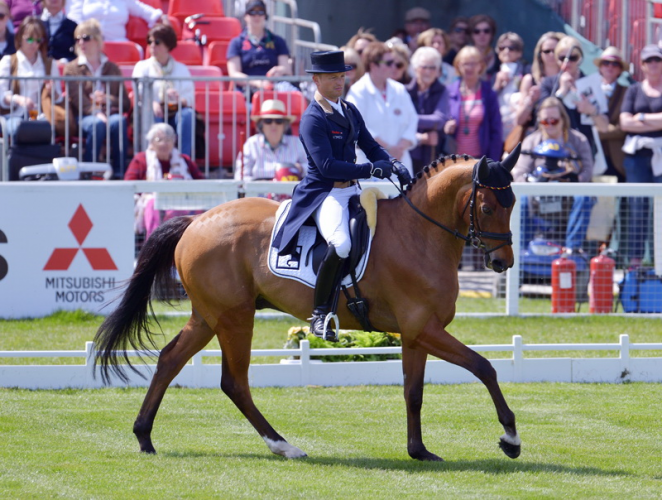 Olympic champion Jung tops dressage leaderboard on opening day at Badminton Horse Trials