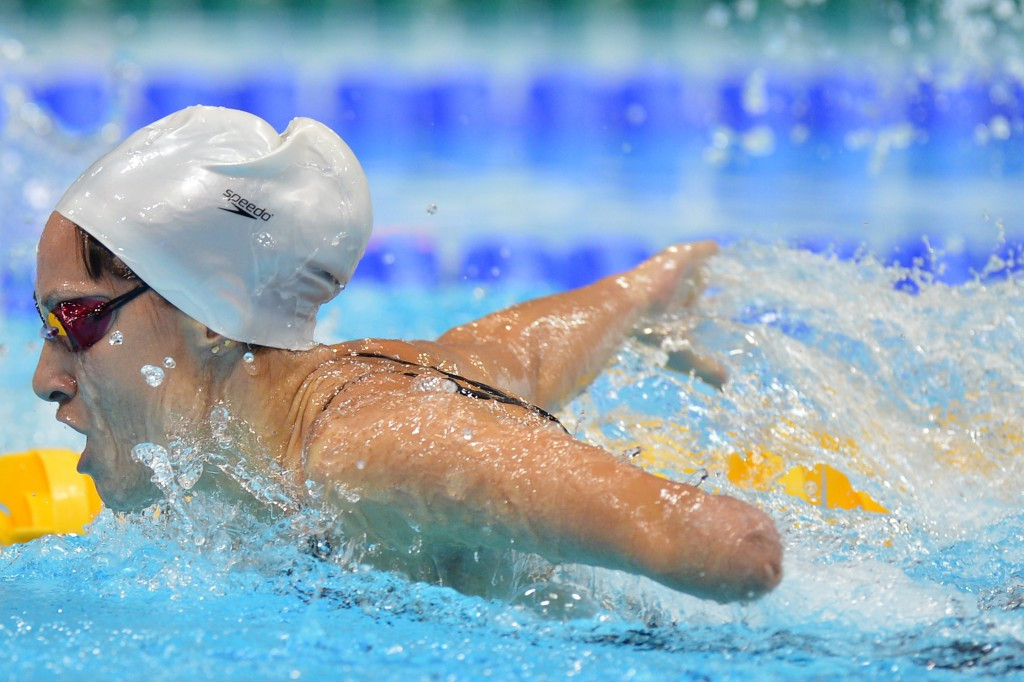 Spain's Sarai Gascon set a new European record in the women's 100m freestyle S9