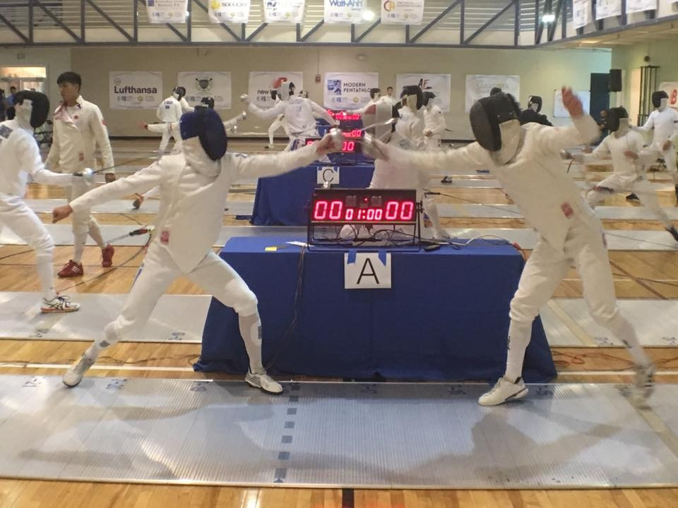 The men's fencing round also provided thrilling competition on the opening day in Sarasota