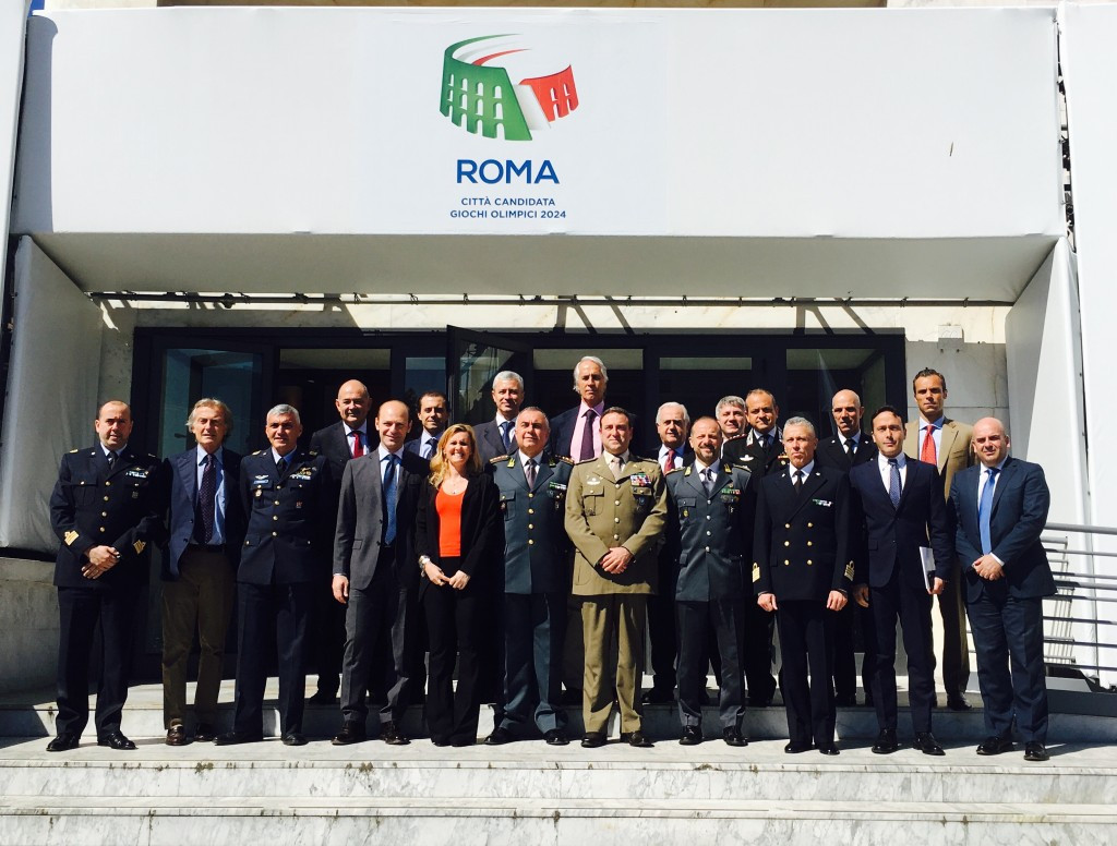 Rome's bid for the 2024 Olympic and Paralympic Games has received the backing of Italian Armed Forces, Police and Civil Corps ©Rome 2024