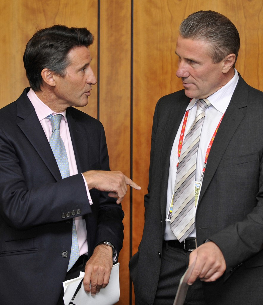 Sebastian Coe and his Presidential rival Sergey Bubka have each been full of praise during their respective visits ©AFP/Getty Images