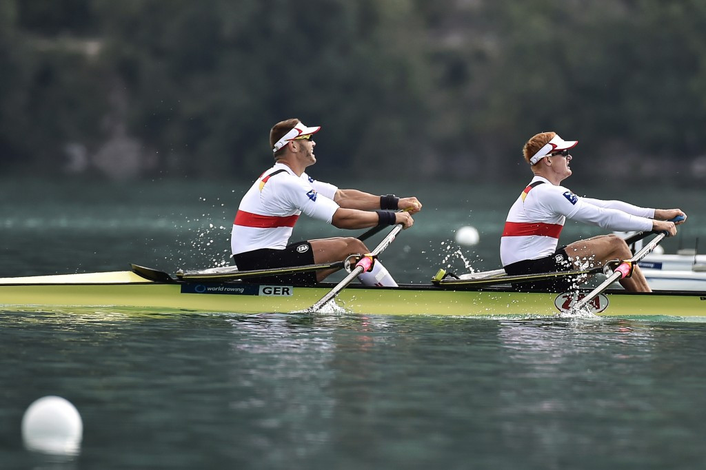 German veteran Marcel Hacker (left) was among the winners on home waters today ©Getty Images