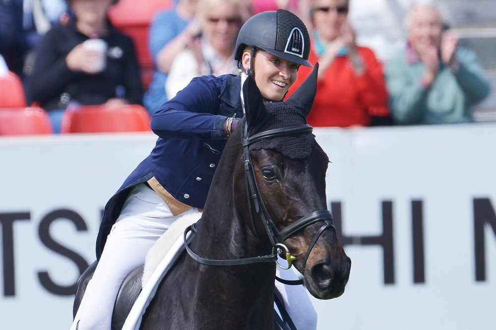 British youngster King emerges as main challenger to Olympic champion Jung at Badminton Horse Trials