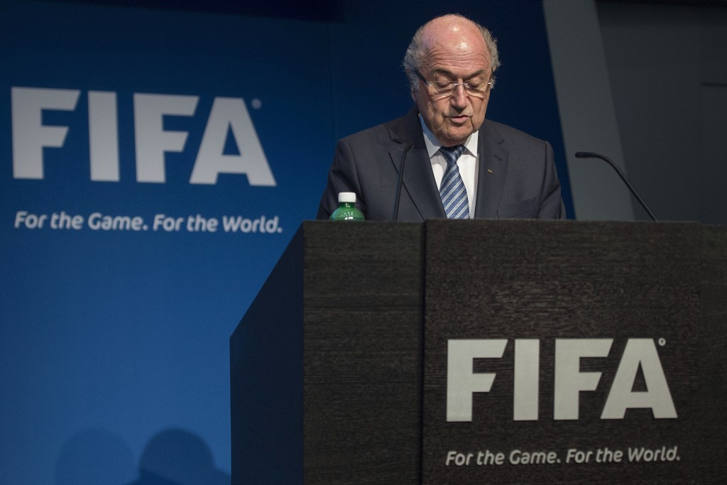 Blatter made his shock announcement at a hastily-arranged press conference in Zurich today