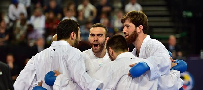 Spain and France reach team finals on second day of European Karate Championships
