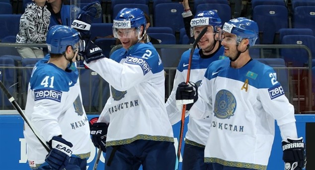 Kazakhstan stun Swiss with penalty shots win at IIHF World Championship