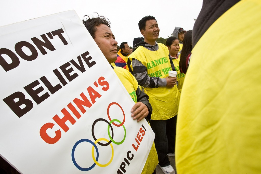 The latest pro-Tibet petition repeats a fierce opposition process seen ahead of the Beijing 2008 Games ©Getty Images