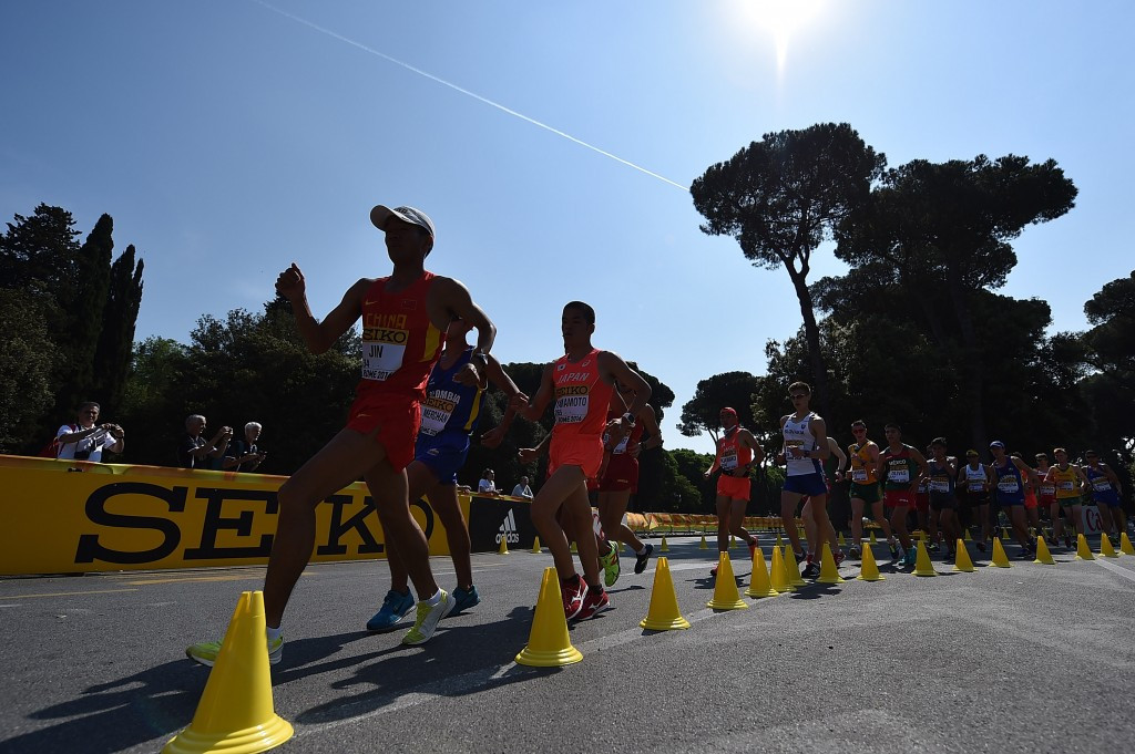 China won four out of four golds on the first day of the IAAF World Race Walking Team Championships in Rome ©Getty Images