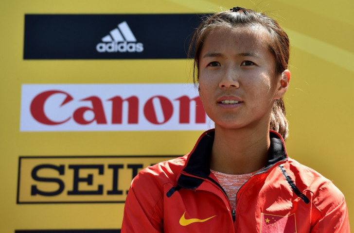 Liu Hong, China's double world champion and world record holder, led virtually from start to finish to secure gold at the IAAF World Road Walking Team Championships in Rome ©Getty Images