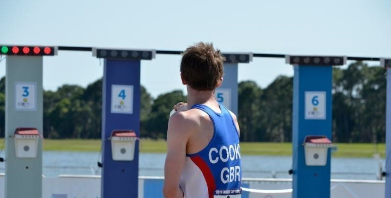 James Cooke moved into the lead during the combined shooting and running