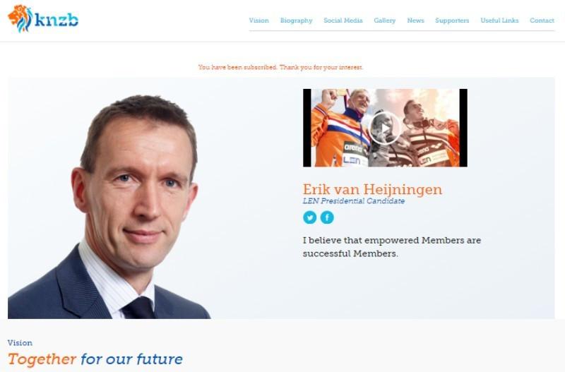 Erik van Heijningen was comfortably beaten in today's election by Paolo Barelli ©Erik van Heijningen