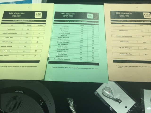 Official ballot papers were colour coded in the same way as the