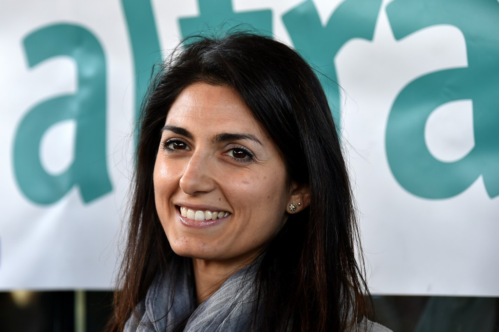 Mayoral frontrunner Virginia Raggi is expected to meet with Giovani Malago tomorrow ©AFP/Getty Images