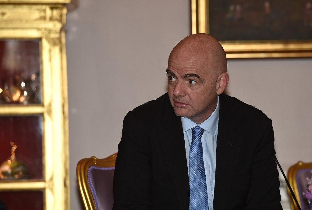 FIFA President Gianni Infantino is expected to visit Israel and Palestine later this year ©Getty Images