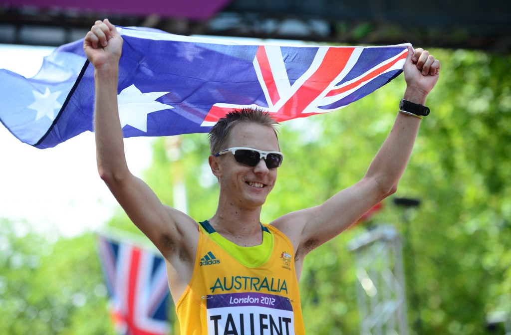 Australia's Jared Tallent will receive his Olympic gold medal on June 17 ©Getty Images