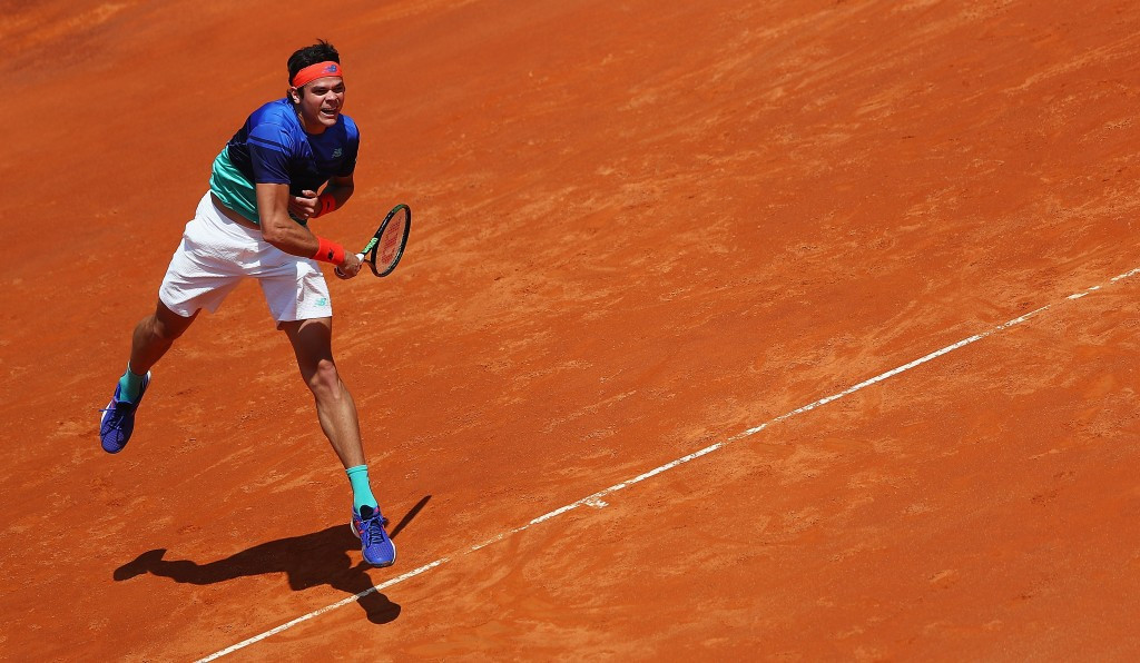 Raonic edges past home wildcard at Italian Open