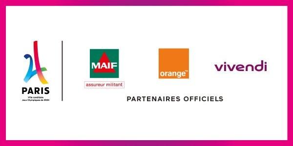 Orange, MAIF and Vivendi have signed on as sponsors of Paris' 2024 Olympic bid ©Paris 2024
