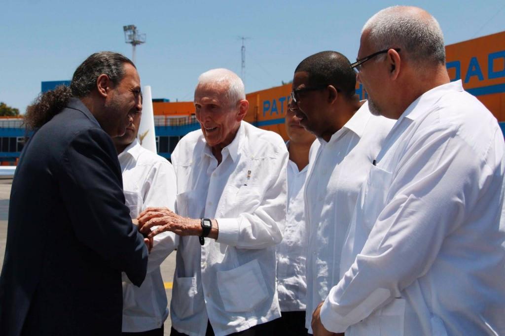 ANOC President Sheikh Ahmad Al-Fahad Al-Sabah with Cuban National Olympic Committee President José Ramón Fernández Alvarez ©ANOC