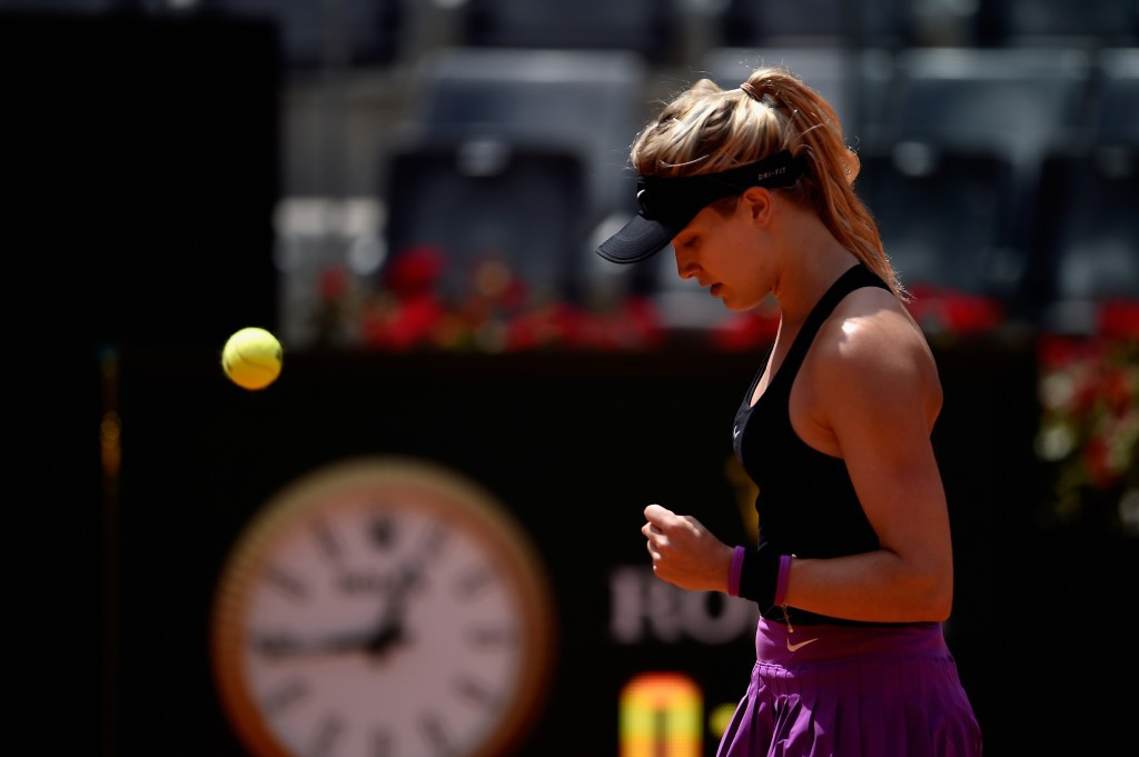 Eugenie Bouchard battled past Jelena Jankovic to reach the second round ©Getty Images