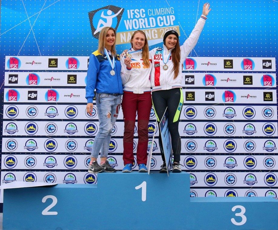 Kaplina secures back-to-back IFSC Speed World Cup wins after success in Nanjing
