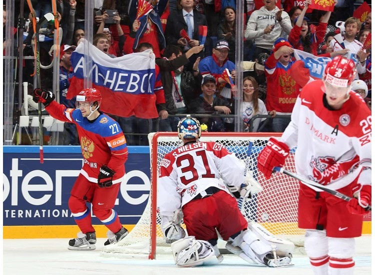 Russia put on a superb display as they dispatched Denmark 10-1