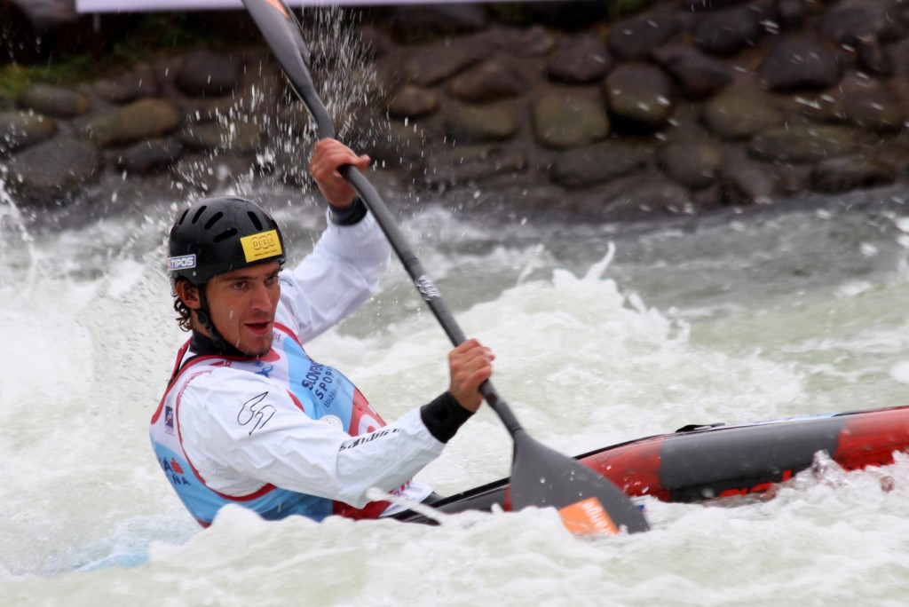 Grigar quickest on home course as European Canoe Slalom Championships open