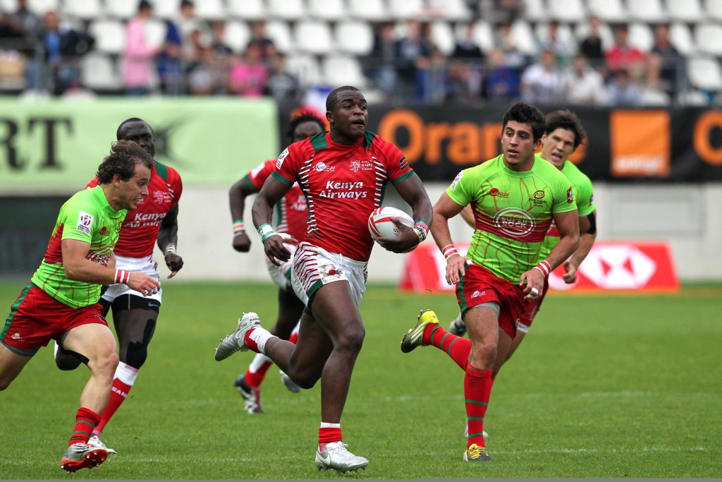Kenya fought back from 14-0 to earn a battling win over Portugal on the opening day in Paris ©World Rugby