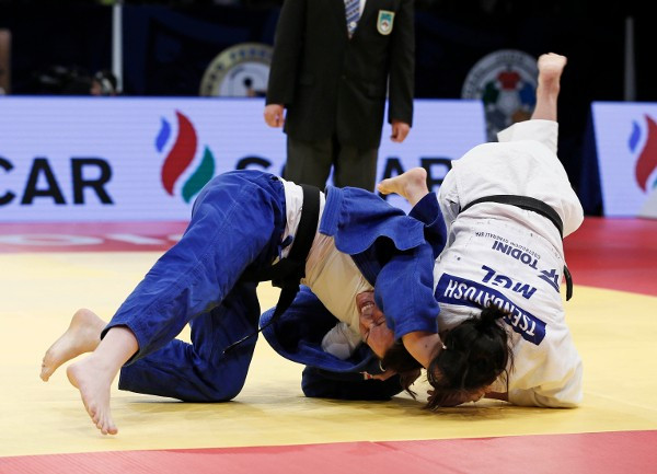Margaux Pinot secured one of two female French gold medals in Almaty ©IJF