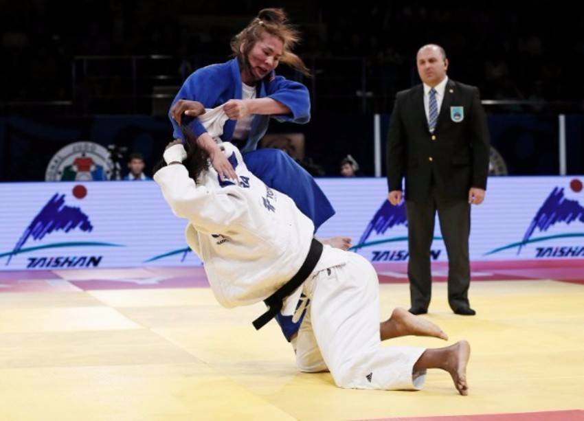 Marie Eve Gahie gained one of the victories of her young career so far ©IJF