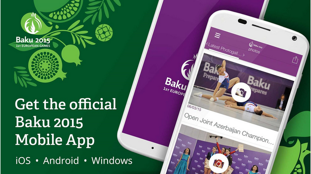 Baku 2015 launches European Games mobile app