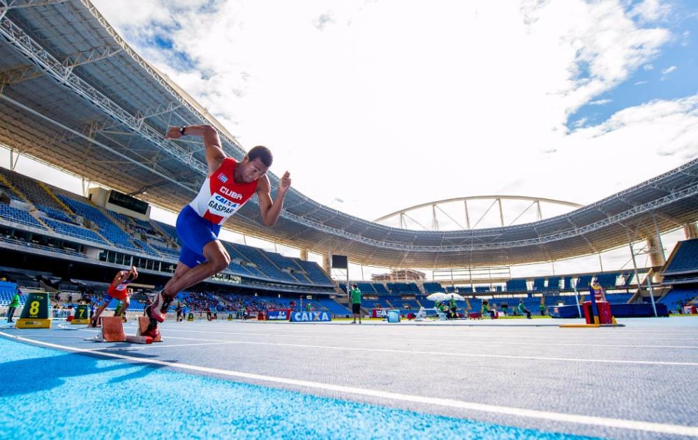 Fast times have been predicted on the new Rio 2016 athletics track ©Rio 2016/Paulo Mumia
