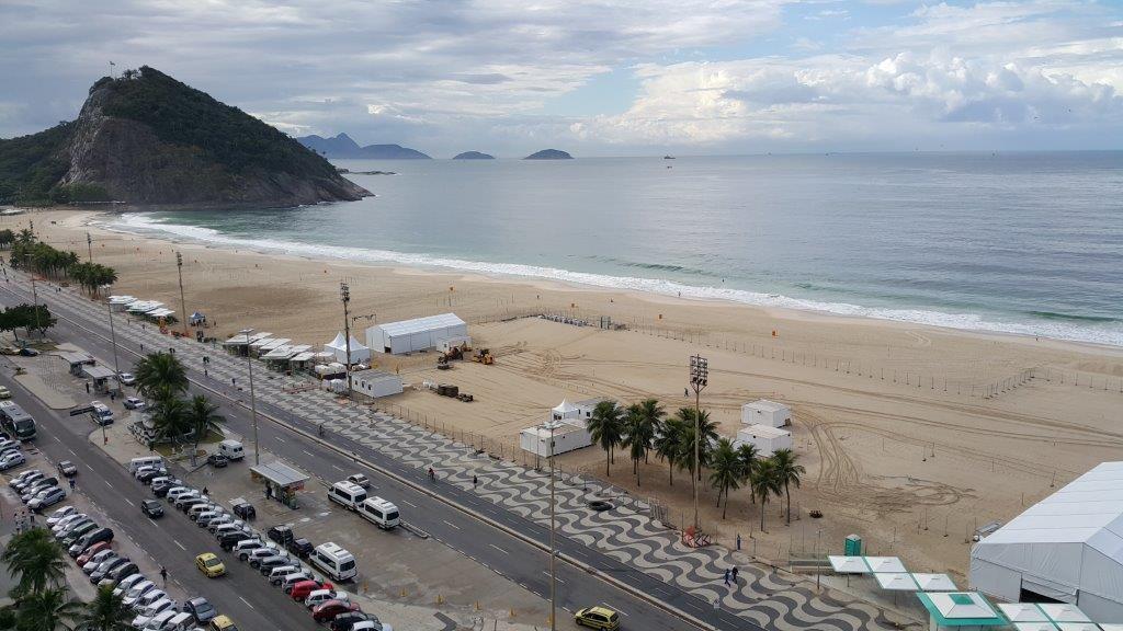Work to construct the Rio 2016 beach volleyball venue has begun ©FIVB