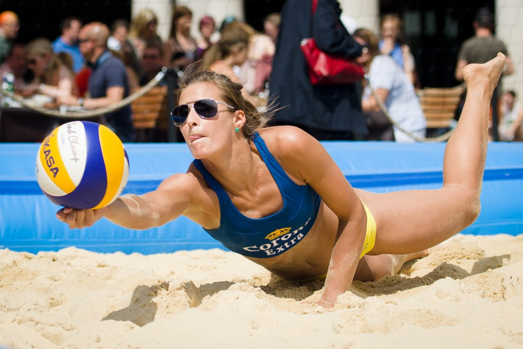 England's Zara Dampney was one of many to welcome beach volleyball's addition to the Commonwealth Games programme